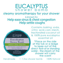 Load image into Gallery viewer, Eucalyptus Shower Bomb