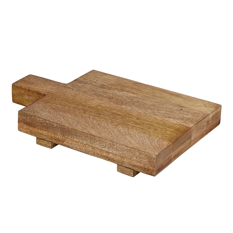 Small Square Footed Cutting Board