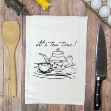 Load image into Gallery viewer, It's Tea Time Tea Towel