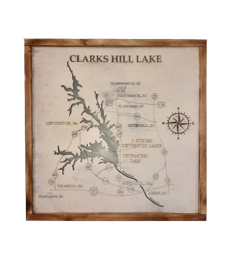Clarks Hill Lake Sign 23.5