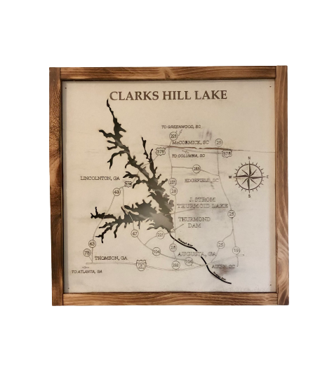 Clarks Hill Lake Sign 16.5