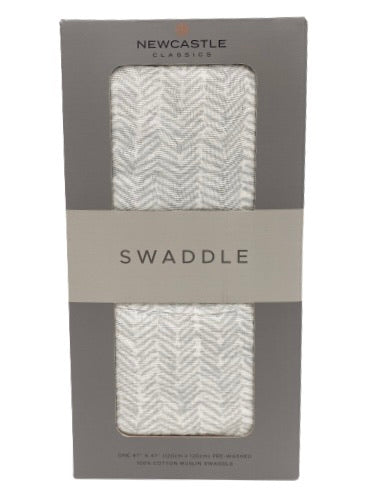 Chevron Grey Swaddle