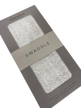 Load image into Gallery viewer, Chevron Grey Swaddle