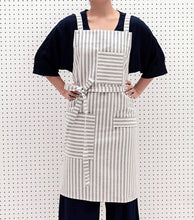 Load image into Gallery viewer, Striped Crossback Bib Apron