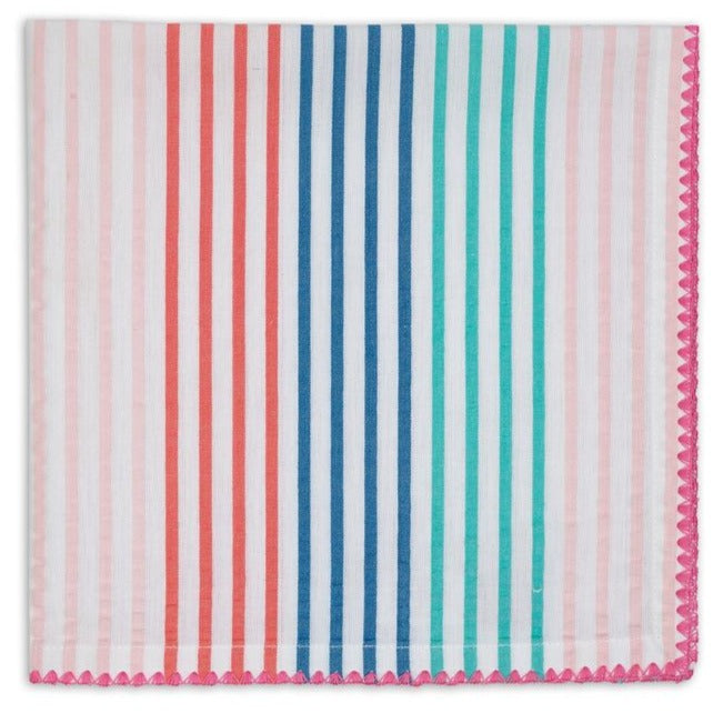 Easter Seersucker Stripe Embellished Napkin