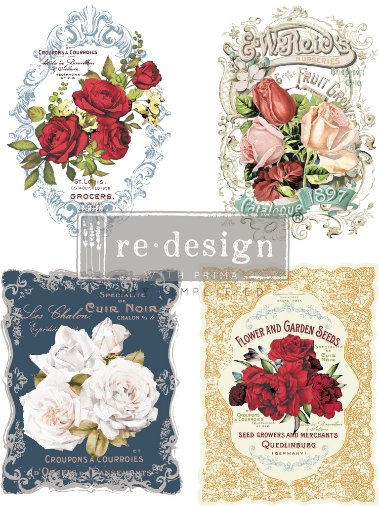 Redesign with Prima - Redesign Transfer - Wild Roses