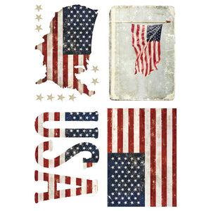 "Redesign with Prima - Redesign Decor Transfers® - Patriotic size 24""x 34"""