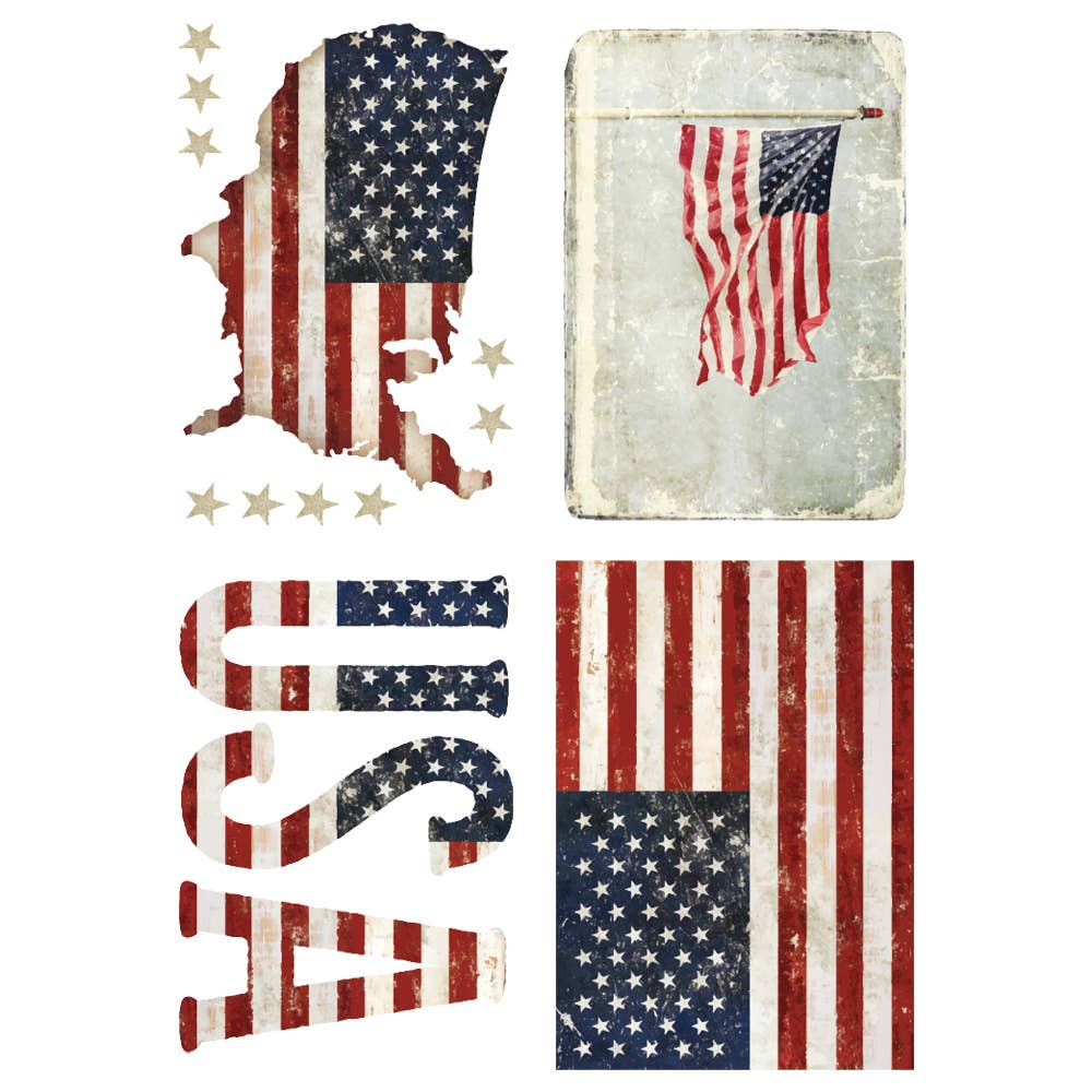 Redesign with Prima - Redesign Decor Transfers® - Patriotic size 24