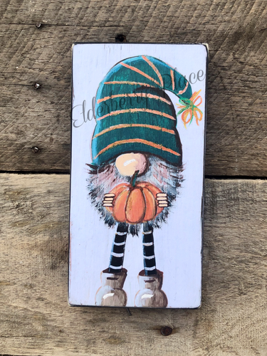 PRINT BLOCK of Original Gnome - Pumpkin - Halloween