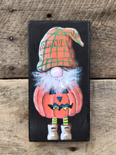 Load image into Gallery viewer, PRINT BLOCK of Original Gnome - Jack-O-Lantern Costume - Halloween
