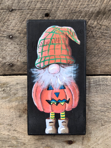 PRINT BLOCK of Original Gnome - Jack-O-Lantern Costume - Halloween