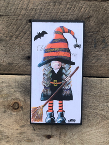 PRINT BLOCK of Original Gnome - Witch - Halloween