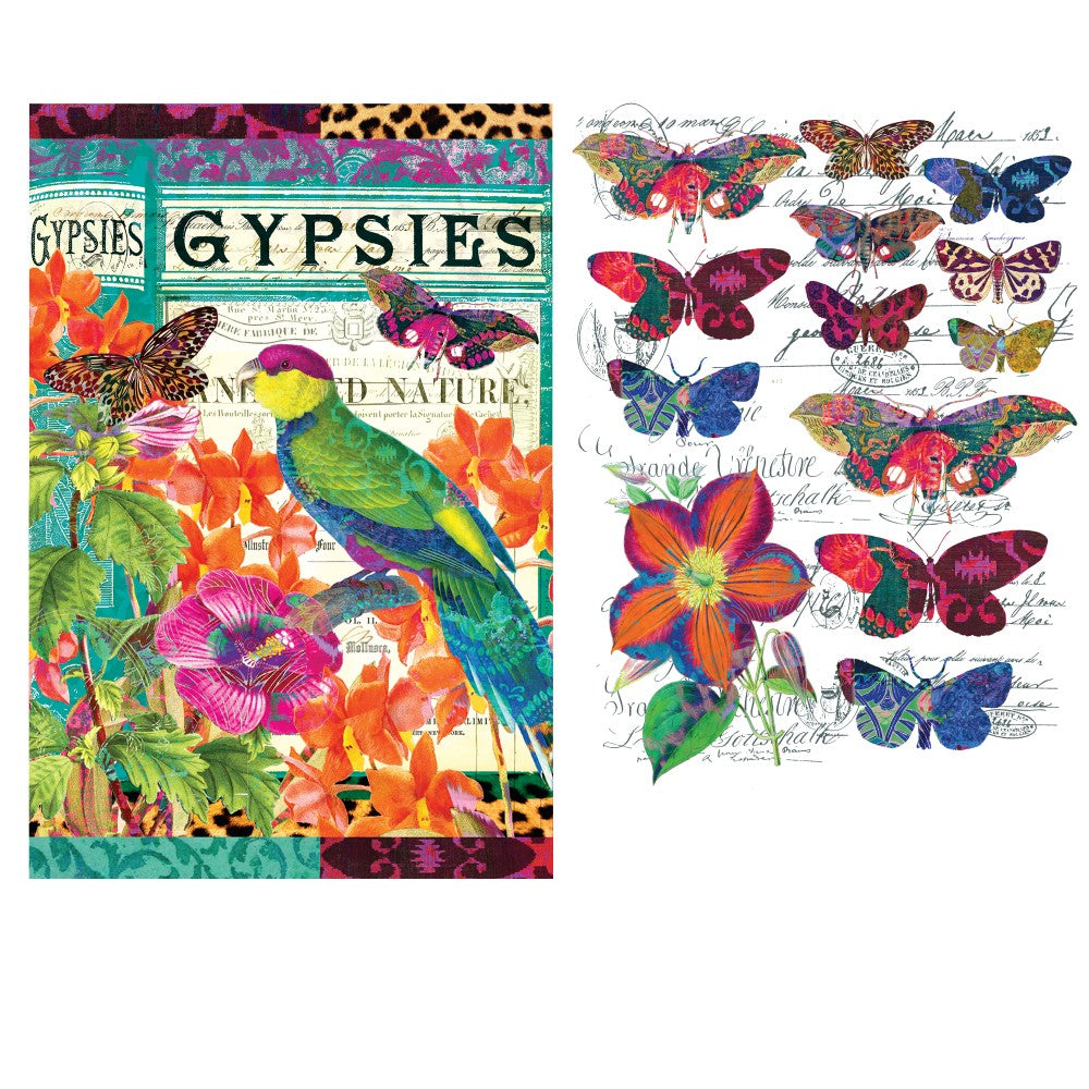 Redesign with Prima - Redesign Decor Transfer - Boho Bird Butterfly