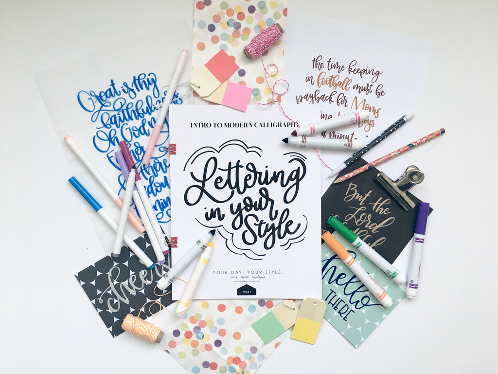 Intro to Modern Calligraphy - Tuesday, November 6, 6:30pm - 8:30pm