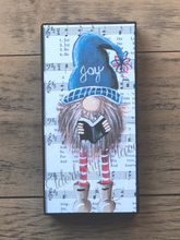"Load image into Gallery viewer, PRINT BLOCK of Original Gnome - Joy to World Music 7"" - Christmas"