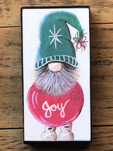 Load image into Gallery viewer, PRINT BLOCK of Original Gnome - Christmas Ornament