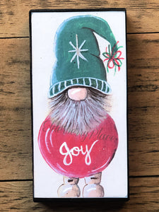 PRINT BLOCK of Original Gnome - Christmas Ornament