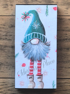 PRINT BLOCK of Original Gnome -  Christmas 7""