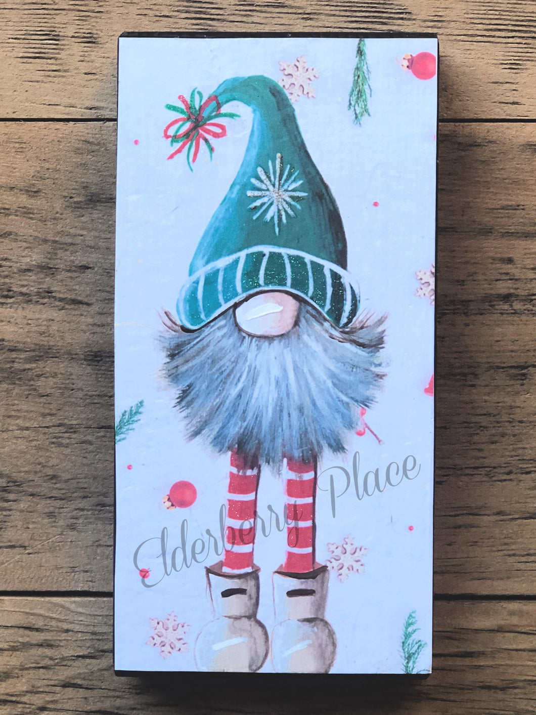 PRINT BLOCK of Original Gnome -  Christmas 7