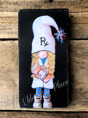 PRINT BLOCK of Original Gnome -  Female Pharmacist 7