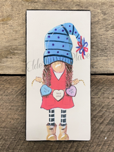 Load image into Gallery viewer, PRINT BLOCK of Original Gnome - Valentine Candy Girl 7""