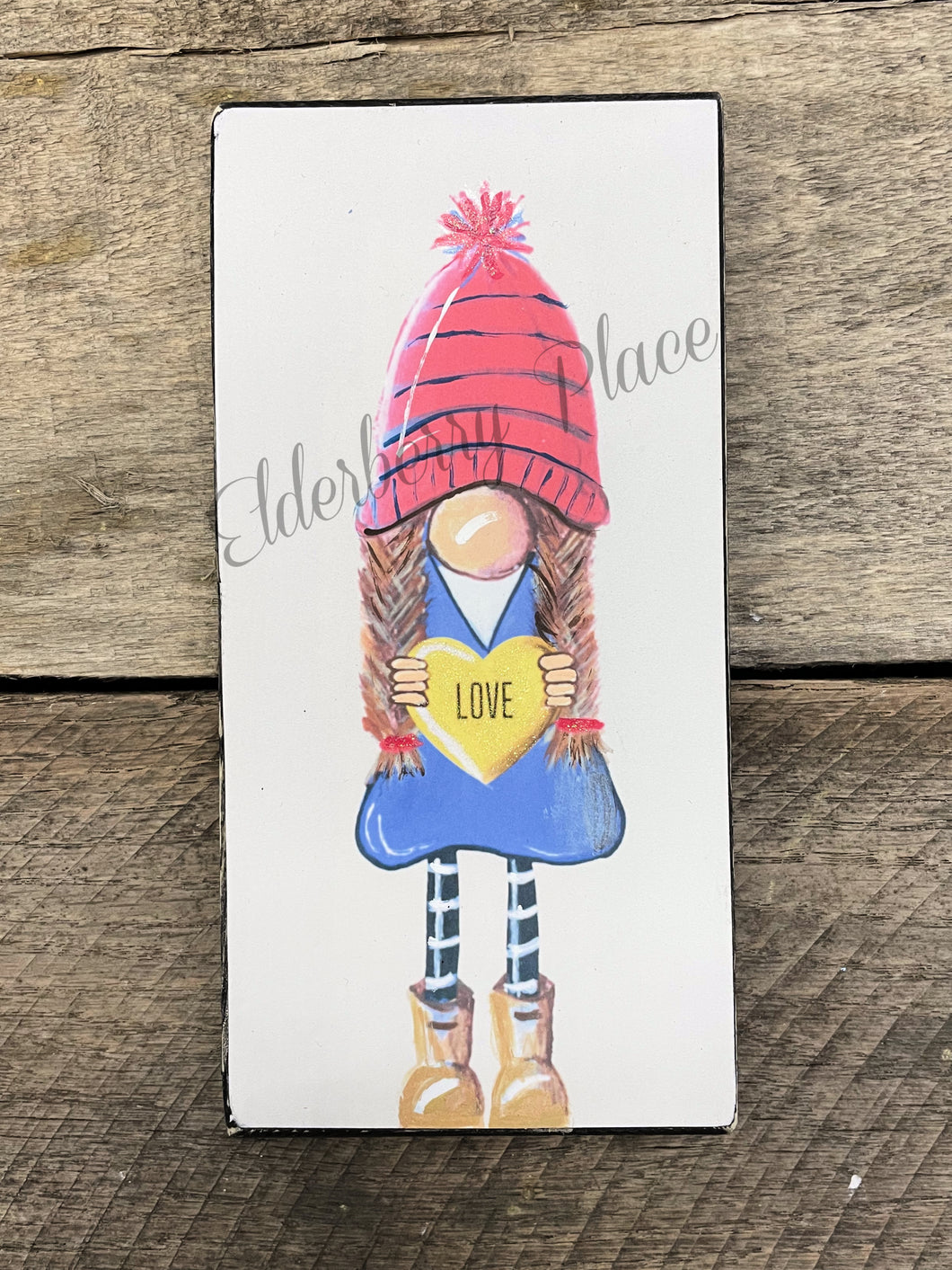 PRINT BLOCK of Original Gnome - Valentine Girl 7