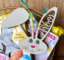 Load image into Gallery viewer, Personalized Easter Basket Tags - Bunny