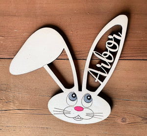 Personalized Easter Basket Tags - Bunny