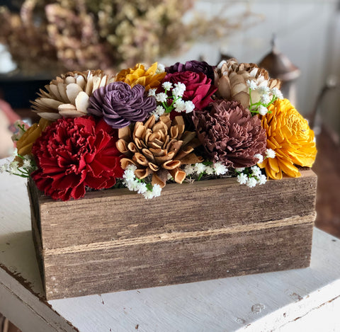 "10"" Box with Wooden Flowers - Wednesday, Nov. 6, 6:30-8:30pm"