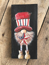 Load image into Gallery viewer, PRINT BLOCK of Original Gnome - Patriotic Star 7""