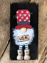 Load image into Gallery viewer, PRINT BLOCK of Original Gnome - USA Patriotic 7""