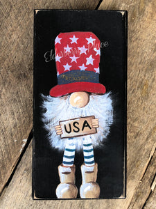 PRINT BLOCK of Original Gnome - USA Patriotic 7""