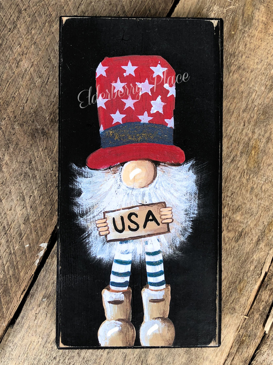PRINT BLOCK of Original Gnome - USA Patriotic 7