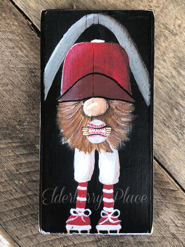 PRINT BLOCK of Original Gnome - St. Louis Baseball 7