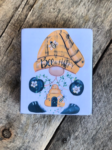 Print Block - BEE Happy Gnome