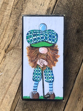 "Load image into Gallery viewer, PRINT BLOCK of Original Gnome - Golf 7"" Golfer"