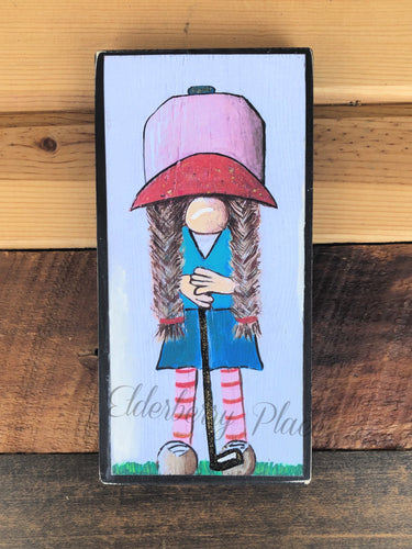 PRINT BLOCK of Original Gnome - Lady Golfer 7