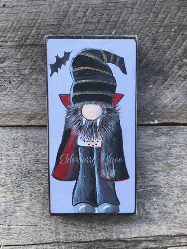 PRINT BLOCK of Original Gnome - Vampire - Halloween