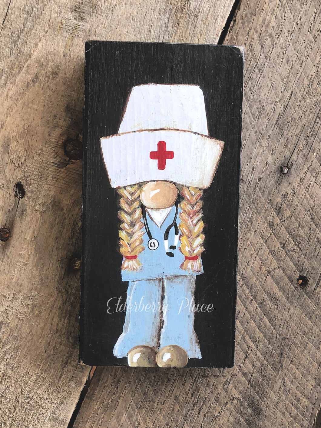 PRINT BLOCK of Original Gnome - Nurse Blonde Hair 7