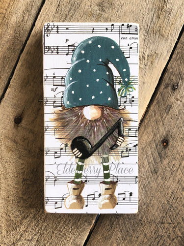 PRINT BLOCK of Original Gnome - Music Note 7