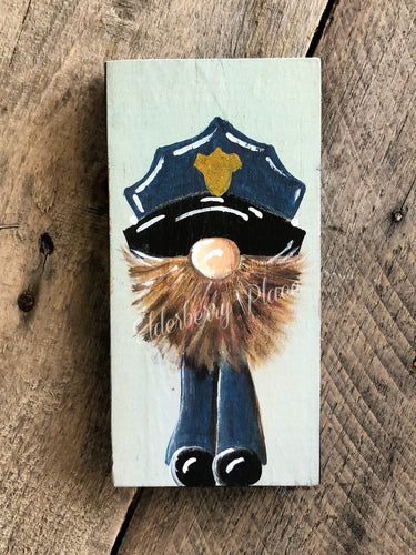 PRINT BLOCK of Original Gnome - Policeman Brown Beard 7