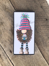 Load image into Gallery viewer, PRINT BLOCK of Original Gnome - Ice Cream Gnome  7""