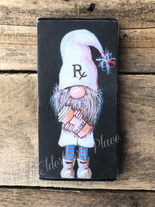 PRINT BLOCK of Original Gnome -  Male Pharmacist 7""