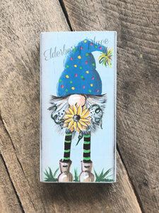 PRINT BLOCK of Original Gnome - Sunflower 7""