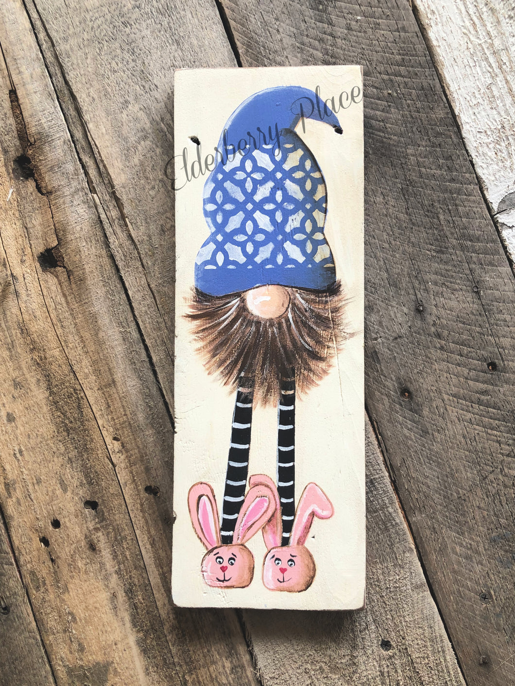 Gnome  - Medium Size with Bunny Slippers - 15