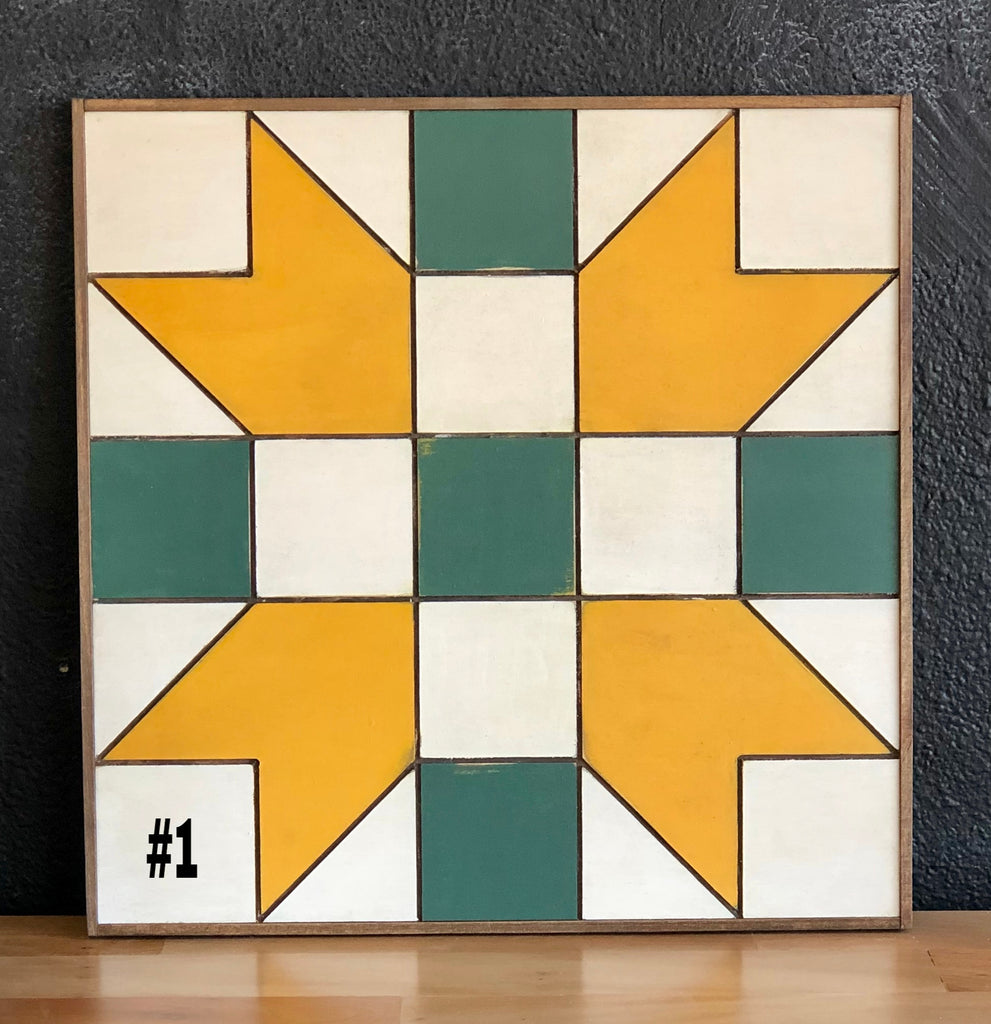"NEW DESIGNS! 18"" x 18"" Framed Quilt Block Workshop - Monday, September 30 - 6:30-8:30pm (maybe 9)"