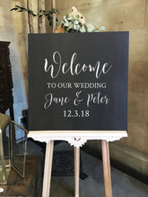 Load image into Gallery viewer, Vinyl Sticker Decal for Wedding Welcome Sign // 18/22/30 inches wide // DIY Ceremony Signage