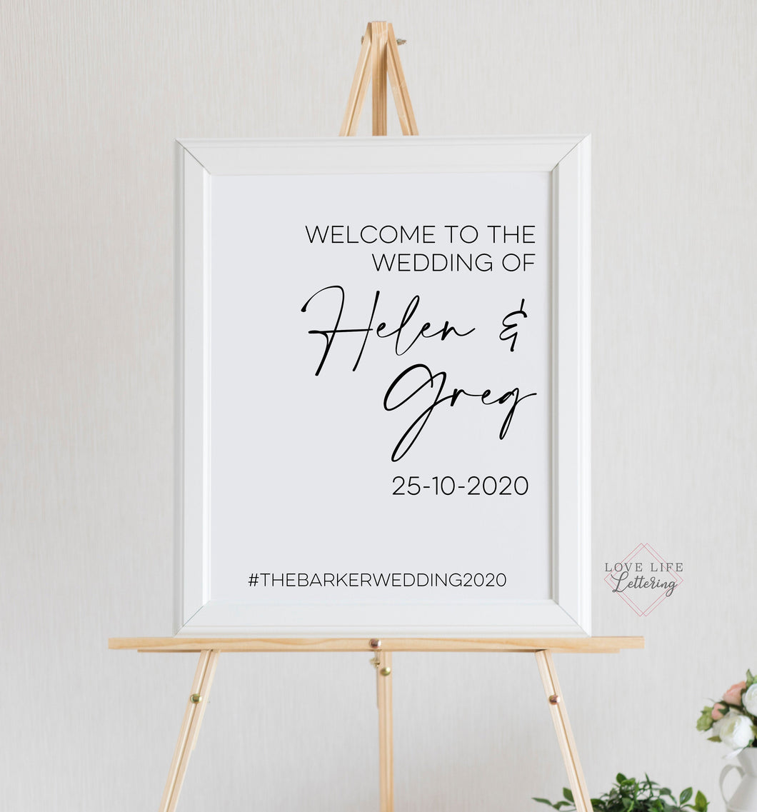 Vinyl Sticker Decal for DIY Wedding Welcome Sign // Mirror, Perspex // Create your own Ceremony Signage for a Minimal Event