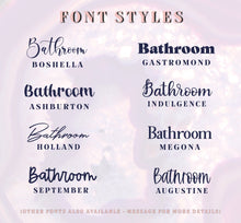 Load image into Gallery viewer, Vinyl Decal Sticker for Bathroom Dispensers // Organisation Labels // Toiletry Stickers // Conditioner, Shampoo, Soap Stickers
