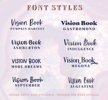 Load image into Gallery viewer, Vinyl Decal Sticker 'Vision Book' For Manifesting Your Goals and Dreams // Visualisation Scrapbook